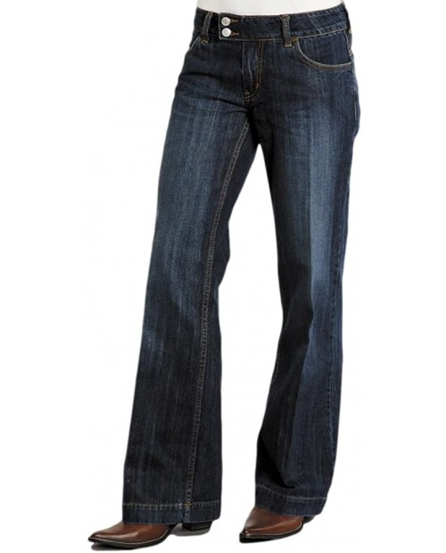 Stetson Women's 214 City Trouser Blue Jeans 12 X 33 at  Women's Clothing store Women Dark Jeans