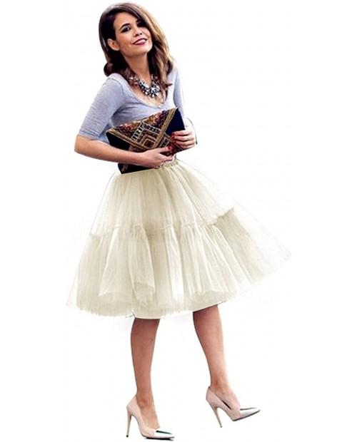 FOLOBE Adult Ballet Tutu Layered Organza Lace Mini Skirt Women's Princess Petticoat for Prom Party at  Women's Clothing store
