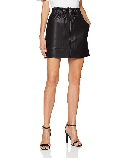 French Connection Women's Faux Leather Skirt at Women's Clothing store