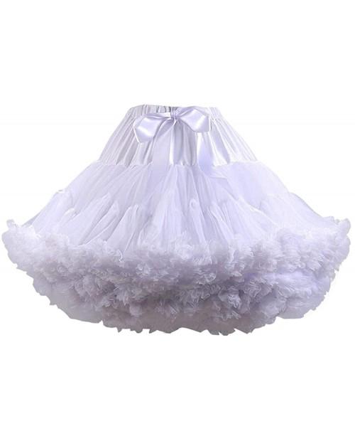 Women's Puffy Tutu Skirt Soft Tulle Petticoat Elastic Waist Princess Pettiskirt Ballet Dance Short Tutu Skirts White at  Women's Clothing store