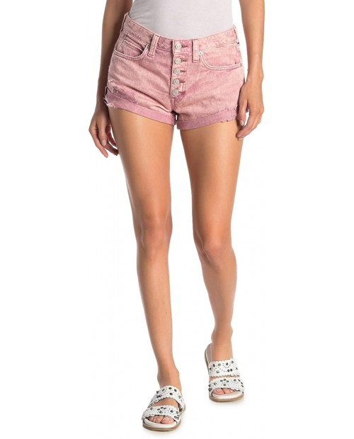 Free People Women's Romeo Rolled Cut Off Shorts in Mauve Swoon 29 at Women's Clothing store