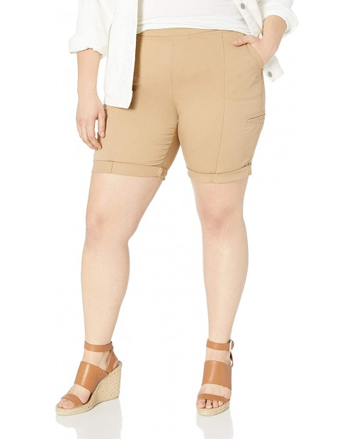 Lee Women's Plus Size Flex-to-go Relaxed Fit Pull-on Cargo Bermuda Short |
