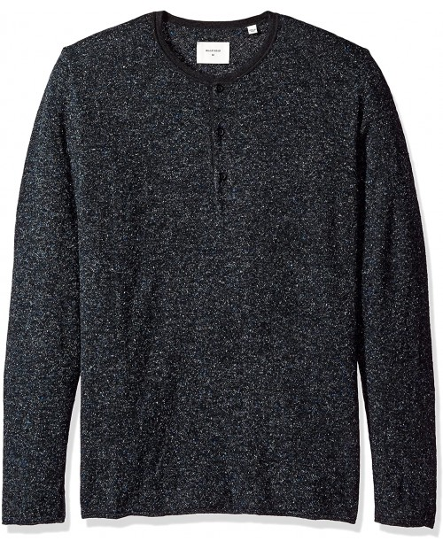 Billy Reid Men's Speckled Long Sleeve Sweater Henley at  Men's Clothing store