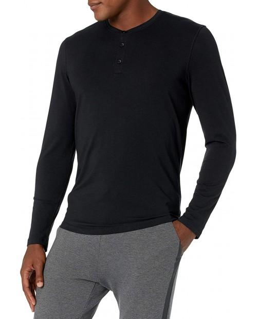 Brand - Peak Velocity Men's Pima Cotton Modal Long Sleeve Henley Shirt