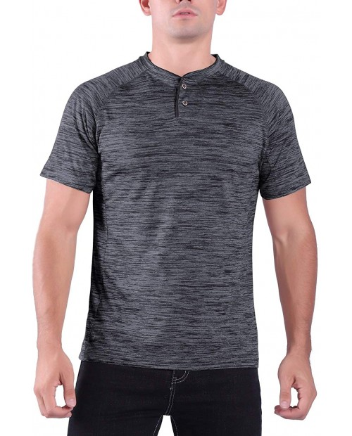 Facitisu Mens Short Sleeve Henley Shirts Quick Dry Slim Fit Buttons Placket Performance T Shirts at  Men's Clothing store