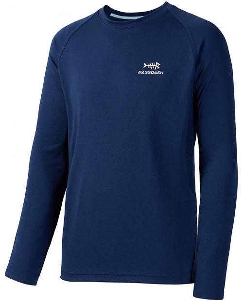 Bassdash Fishing Shirt for Men UPF 50+ Light Sweatshirt Vented Long Sleeve at  Men's Clothing store