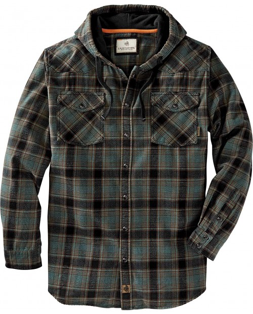 Legendary Whitetails Men's Backwoods Hooded Flannel Shirt