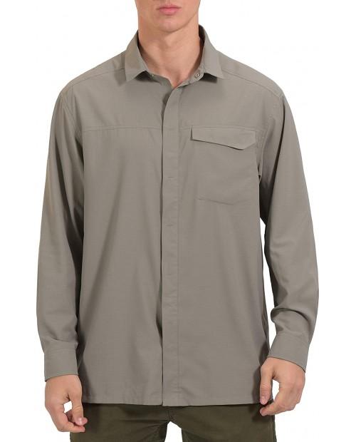 Mapamyumco Men's Ultra-Breathable UPF 50 UV Protection Long Sleeve Shirt for Hiking Travel