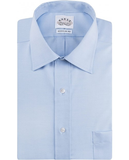 Eagle Men's Dress Shirt Regular Fit Non Iron Solid at Men's Clothing store