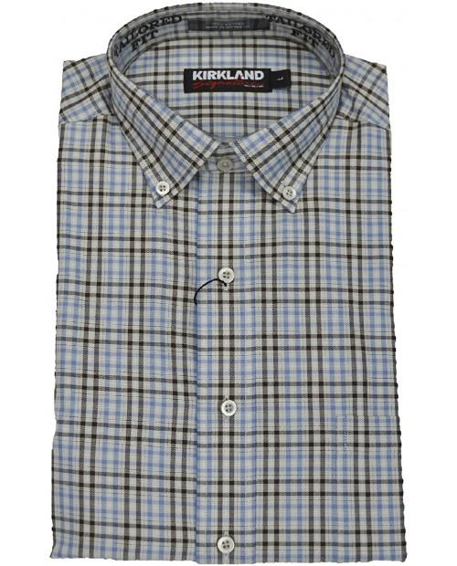 Kirkland Signature Mens Long Sleeve Twill Sport Tailored Shirt at  Men's Clothing store