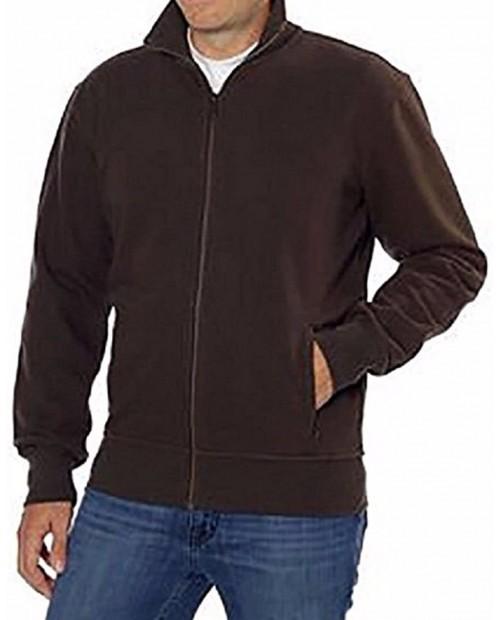 Kirkland Signature Mens Full Zip Jacket Brown Large at  Men's Clothing store