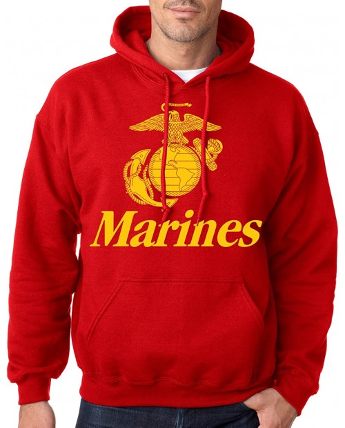Marines Red USMC Hoodie at Men's Clothing store