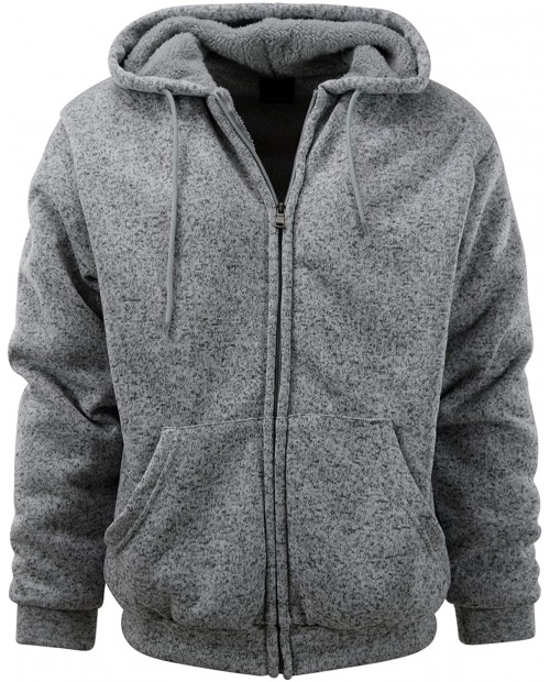 Mens Full Zipper Fleece Basic Hoodie with Lining at Men's Clothing store