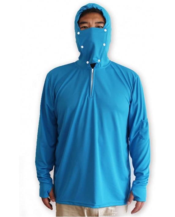 Venxic Men's Fishing Shirts for Men Long Sleeve uv Protection Quick Dry Sun Shirt w Thumb Hole at Men's Clothing store